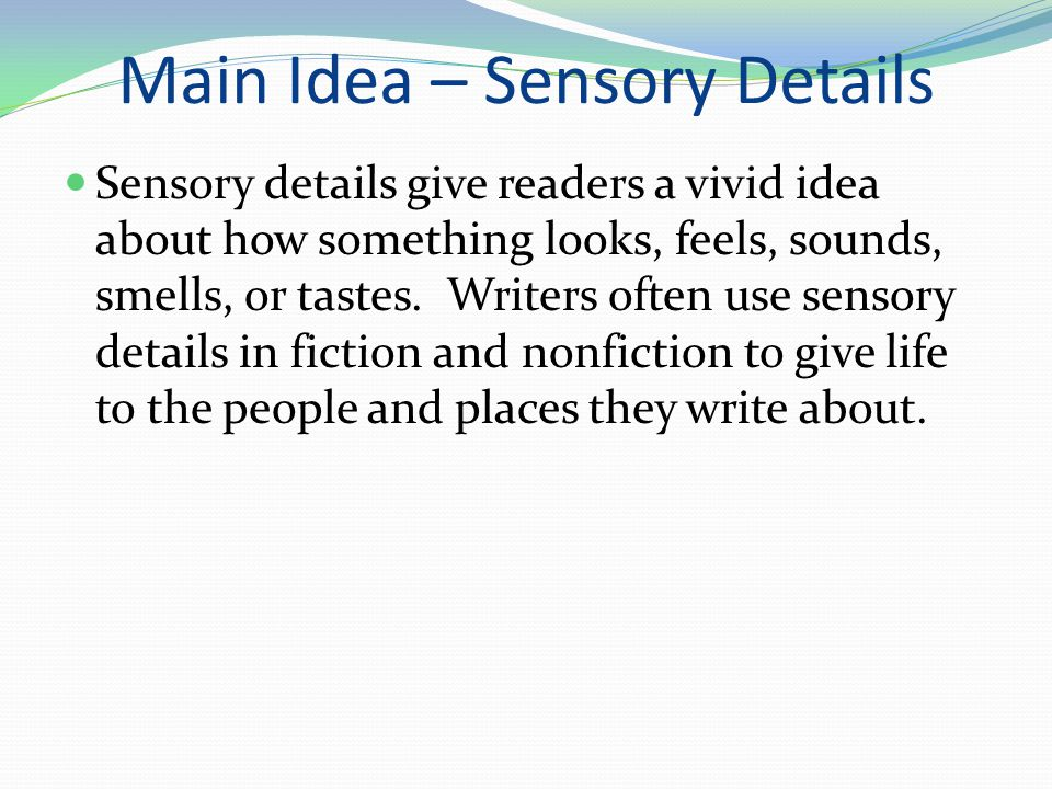 Immerse Your Readers with Sensory Details