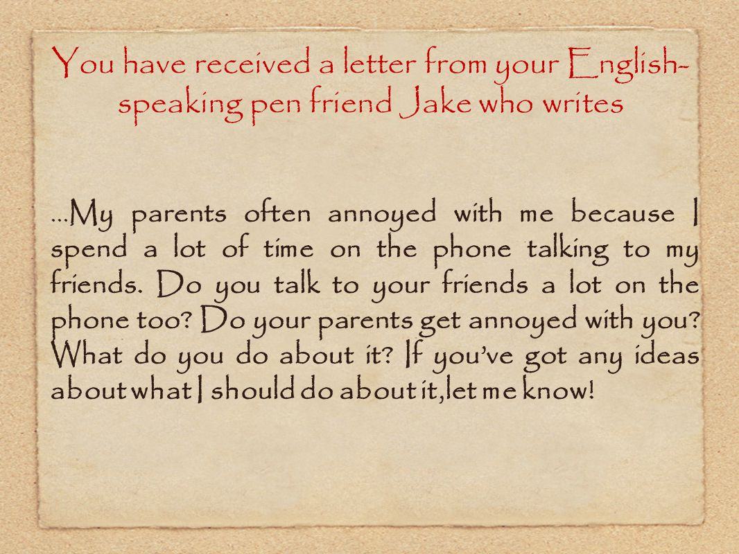 letter to my parents