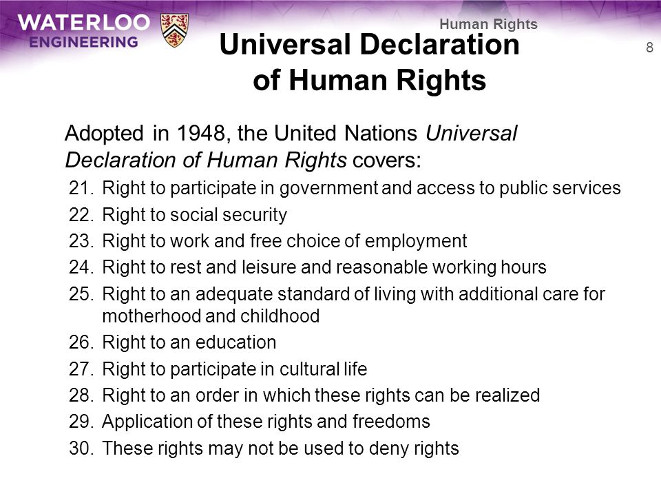 Universal Life Insurance >> Human Rights Douglas Wilhelm Harder, M.Math. LEL - ppt video online download