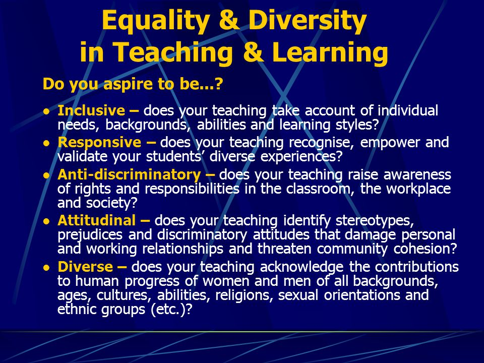diversity learning and progress Institutional efforts to monitor compositional diversity are important, because such diversity not only reflects equity within institutions, but also affects how individuals perceive and experience the work and learning environment (hurtado et al 2012)—that is, the psychological and behavioral dimensions of campus climate.