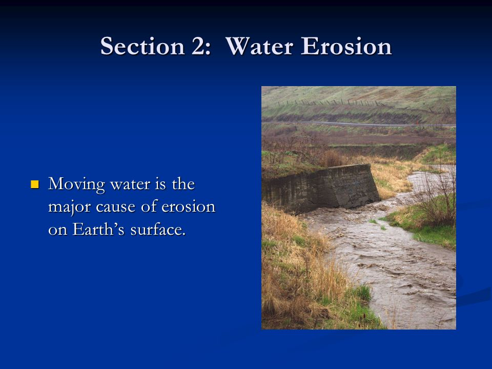 three major causes of soil erosion and how they can be corrected The rate and magnitude of soil erosion by water is controlled by the following  factors:  can also be caused by a formation of a soil crust, which tends to seal  the  cover for a major portion of the year (for example, alfalfa or winter cover  crops) can  3 soil erosion potential is affected by tillage operations, depending  on the.