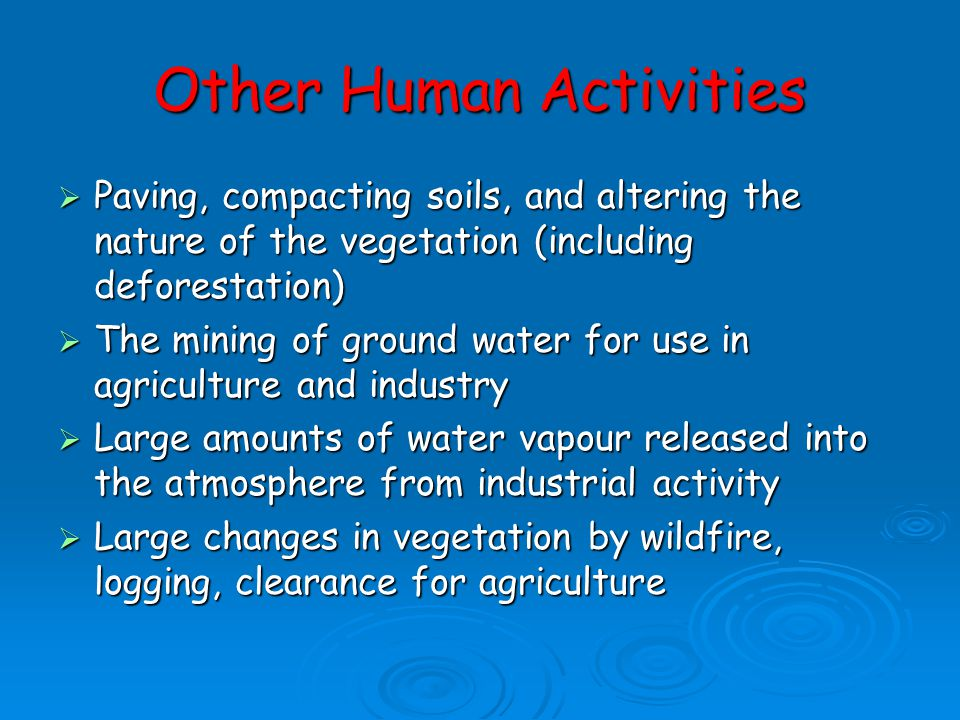 Other Human Activities