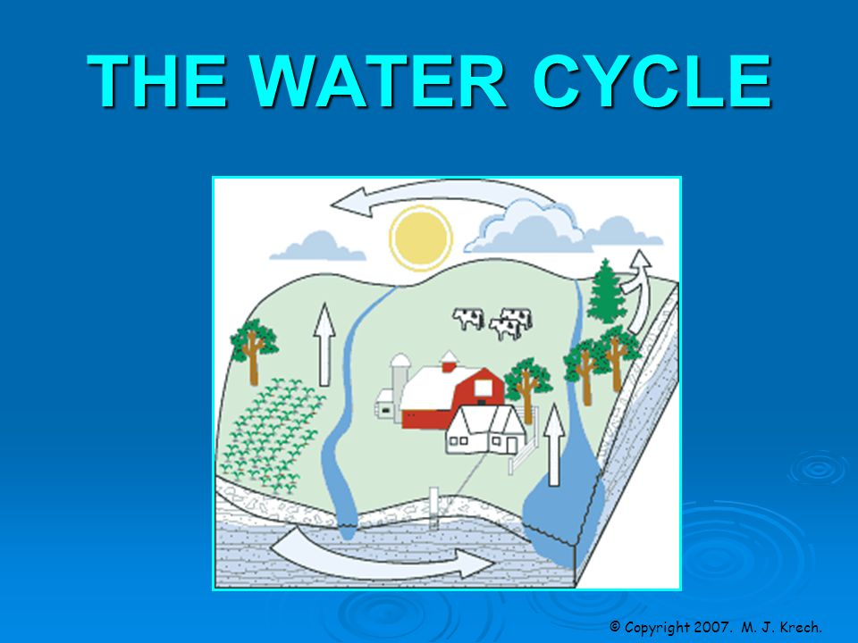 THE WATER CYCLE © Copyright M. J. Krech.