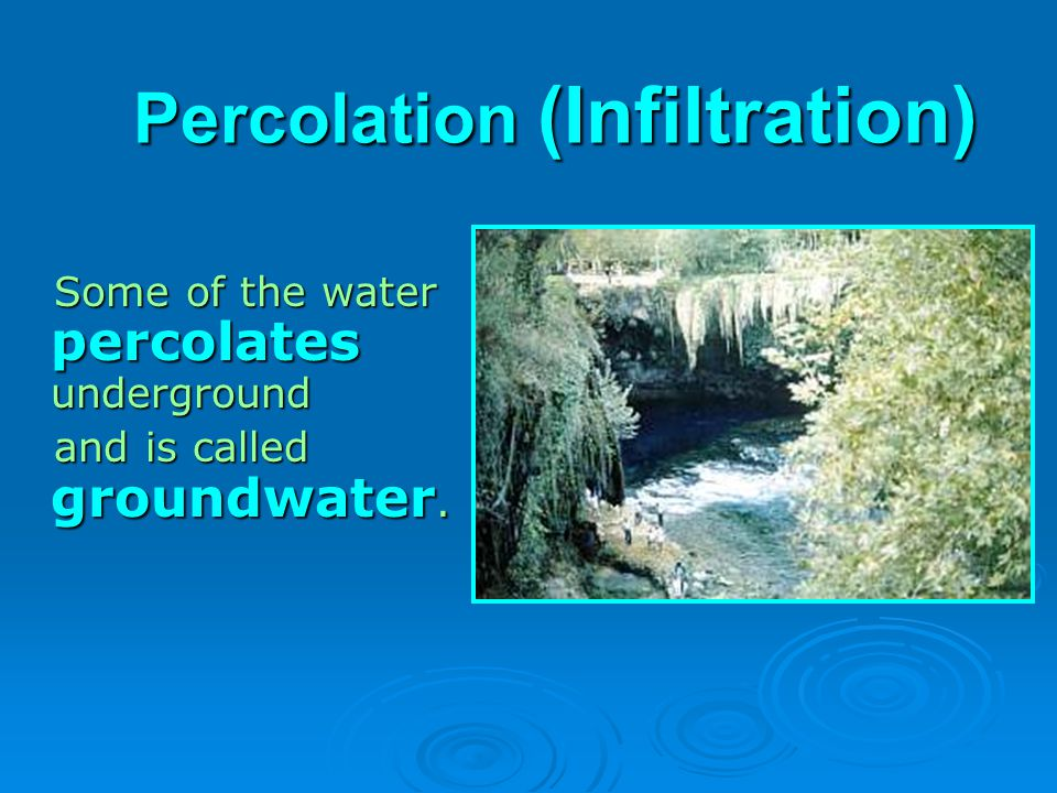 Percolation (Infiltration)