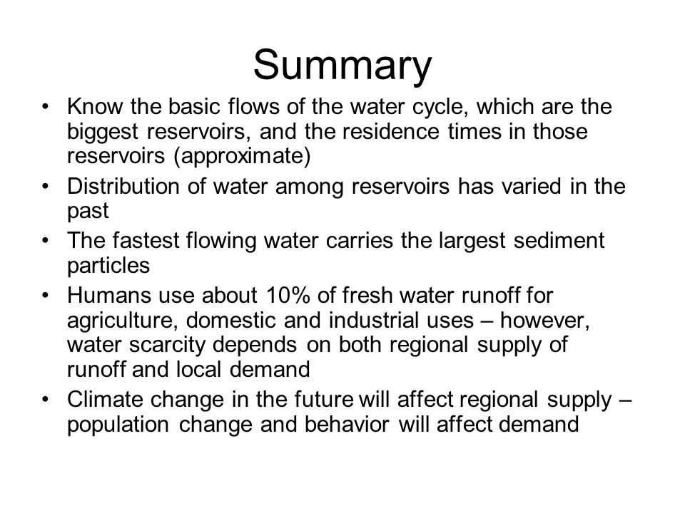 Outline today water cycle chapter 9 can skip the detail about 33 summary ccuart Image collections