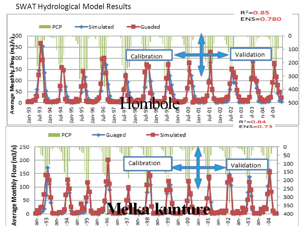 SWAT Hydrological Model Results Flow Calibration