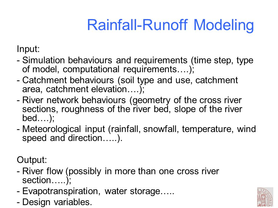 Rainfall – runoff modelling - ppt video online download