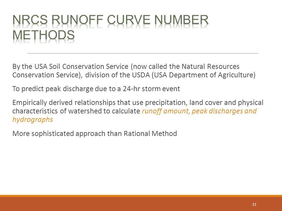 NRCS Runoff Curve Number Methods