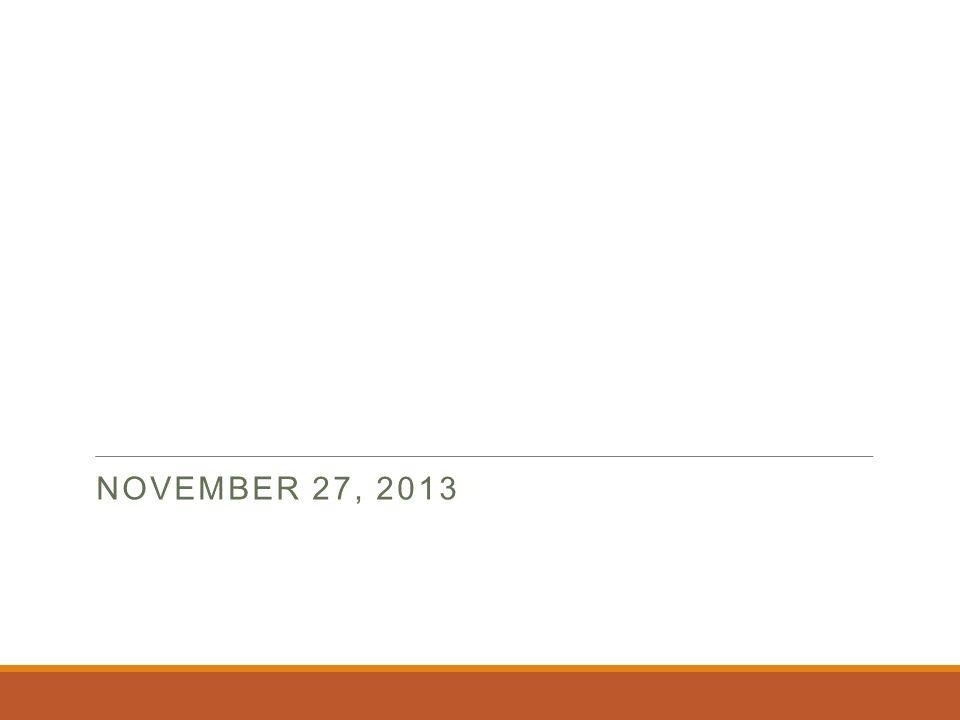 November 27, 2013