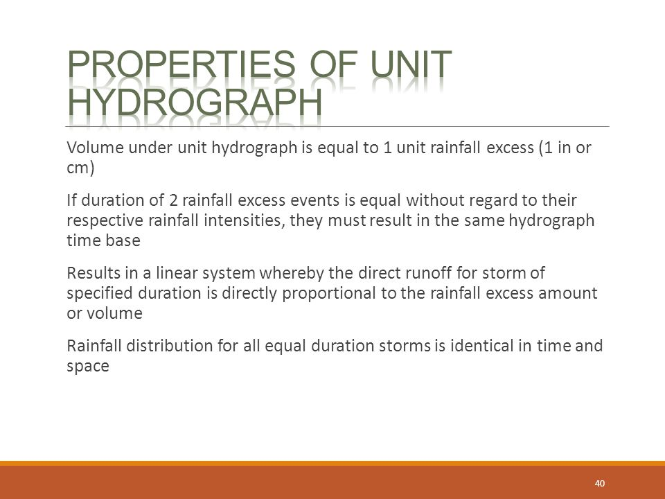 Properties of unit hydrograph