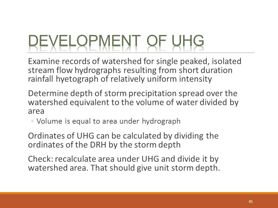 Development of UHG