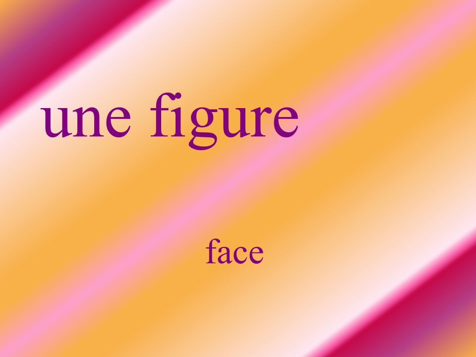 une figure face
