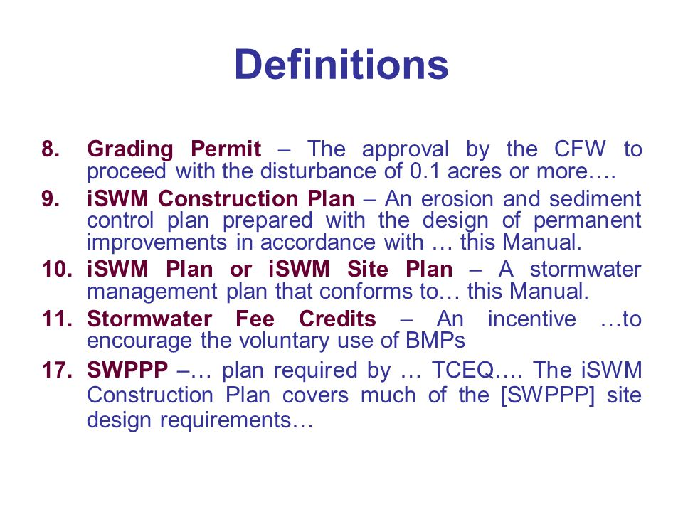 Proposed Storm Water And Grading Policies And Standards Ppt Video Online Download