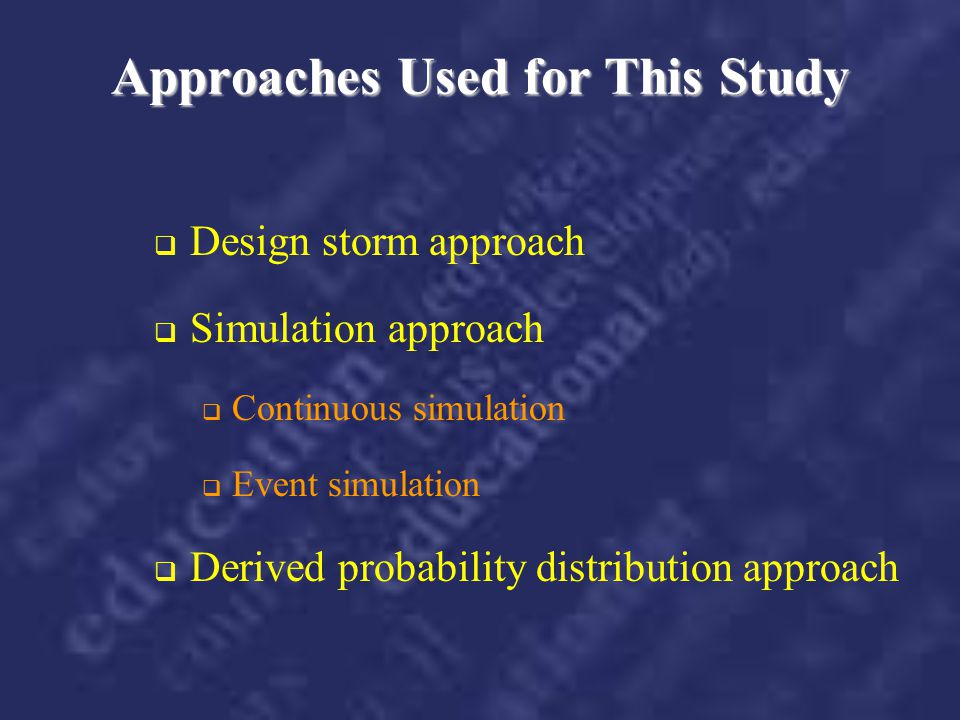 Approaches Used for This Study