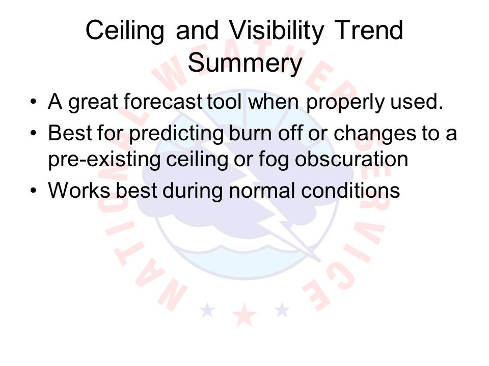 Ceiling and Visibility Trend Summery