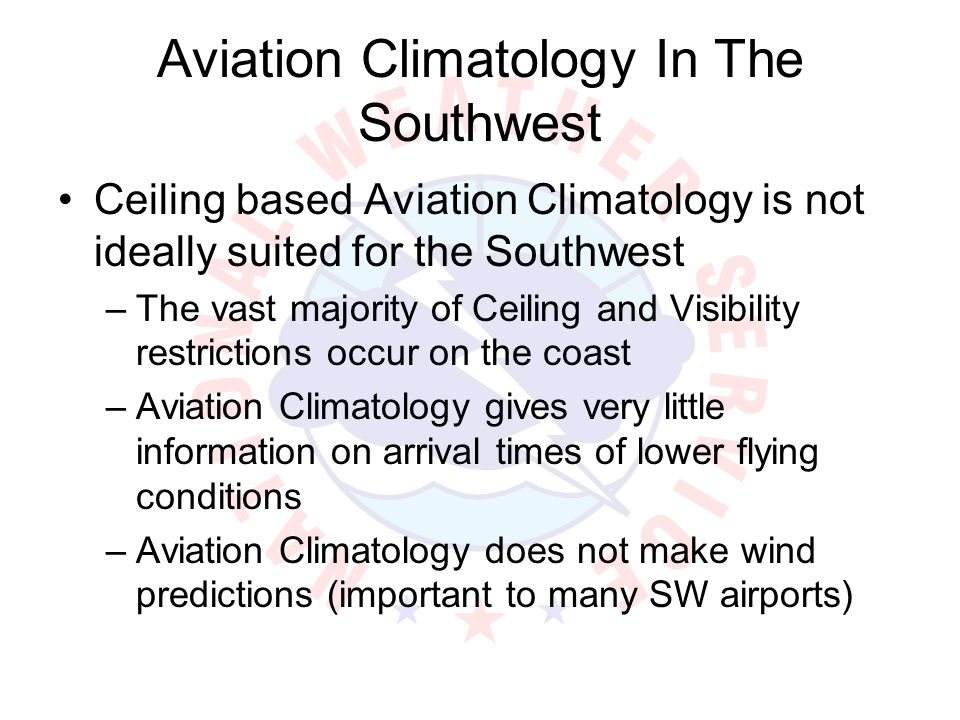 Aviation Climatology In The Southwest