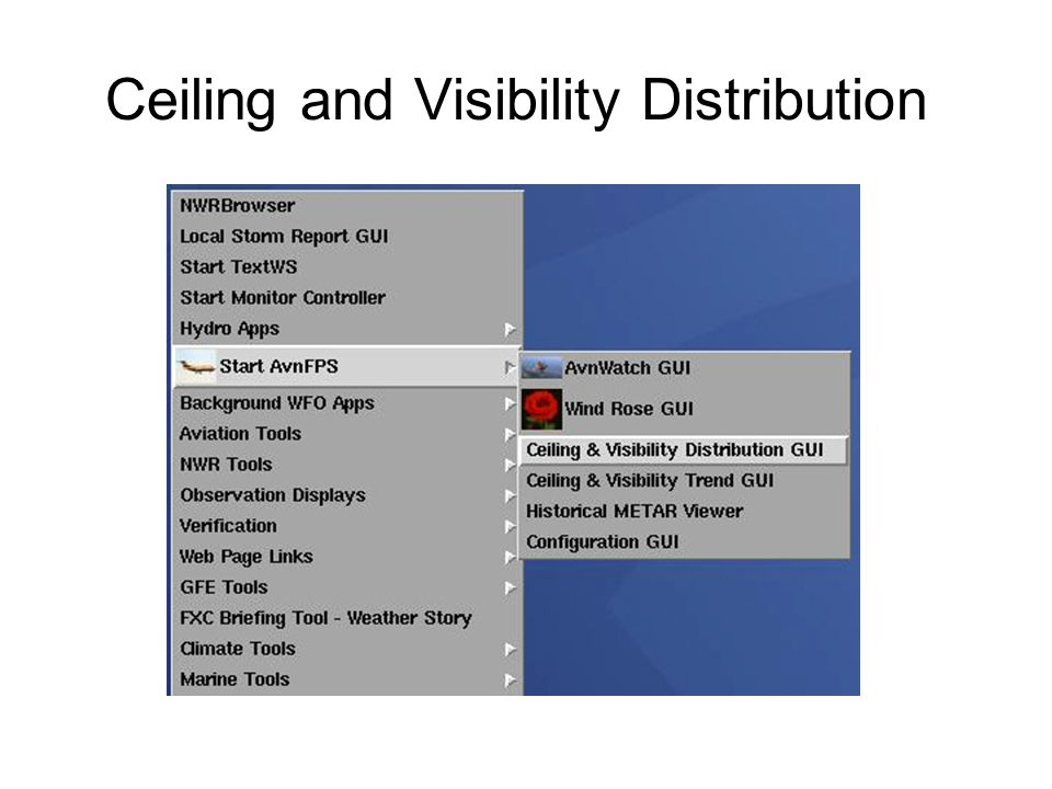 Ceiling and Visibility Distribution