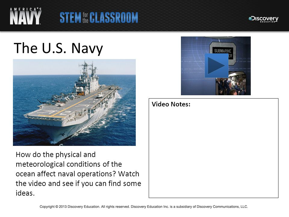 The U S Navy Video Notes