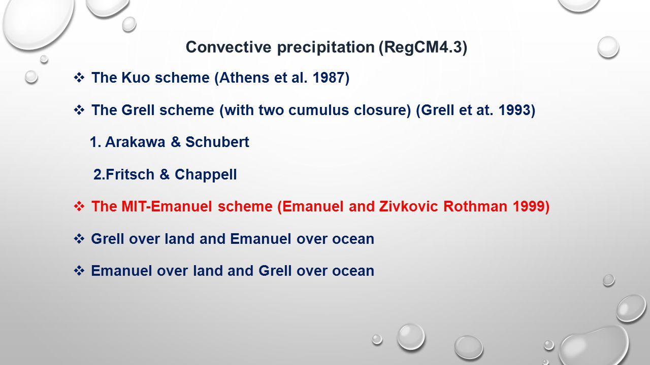 Convective precipitation (RegCM4.3)