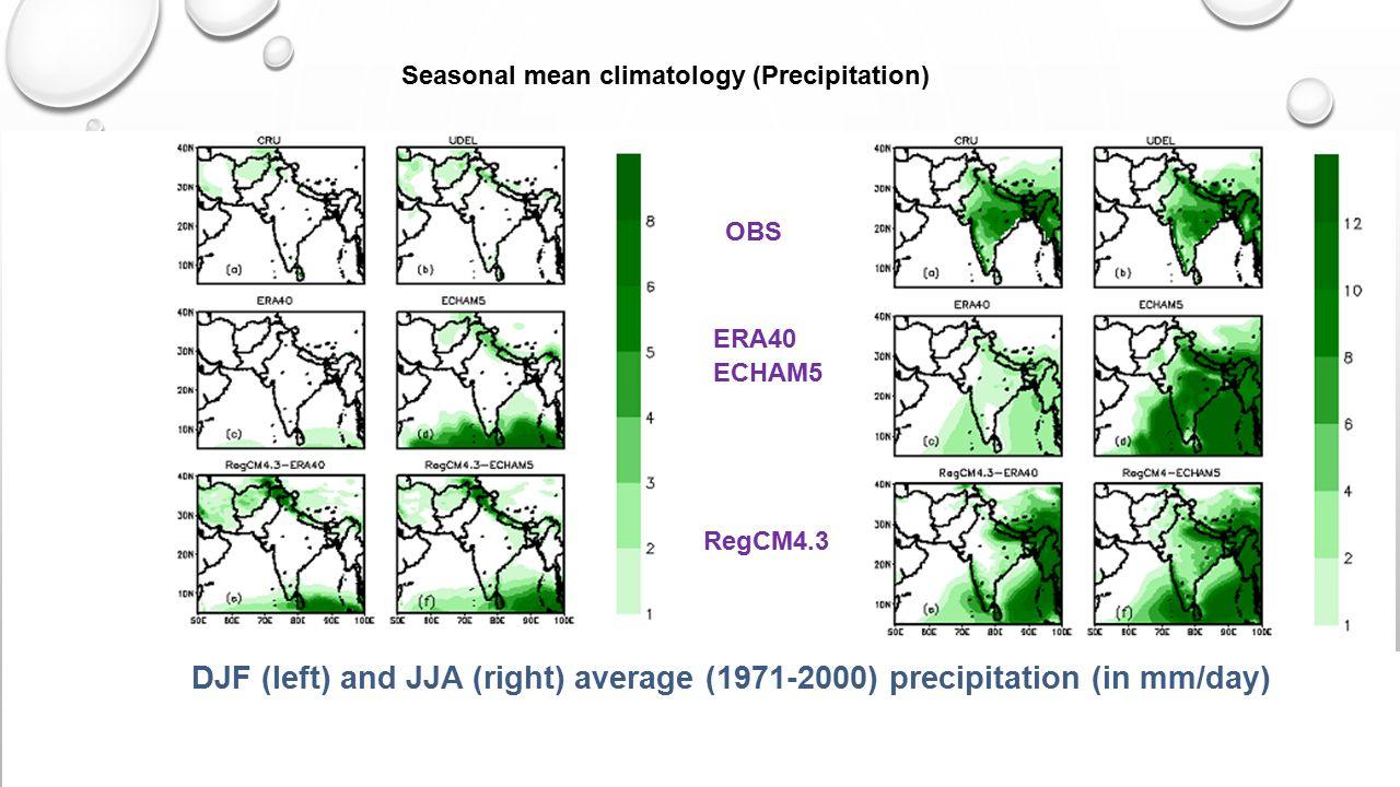 Seasonal mean climatology (Precipitation)