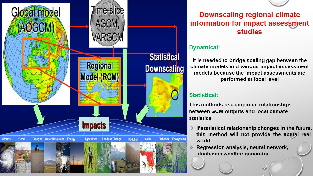 Downscaling regional climate information for impact assessment studies