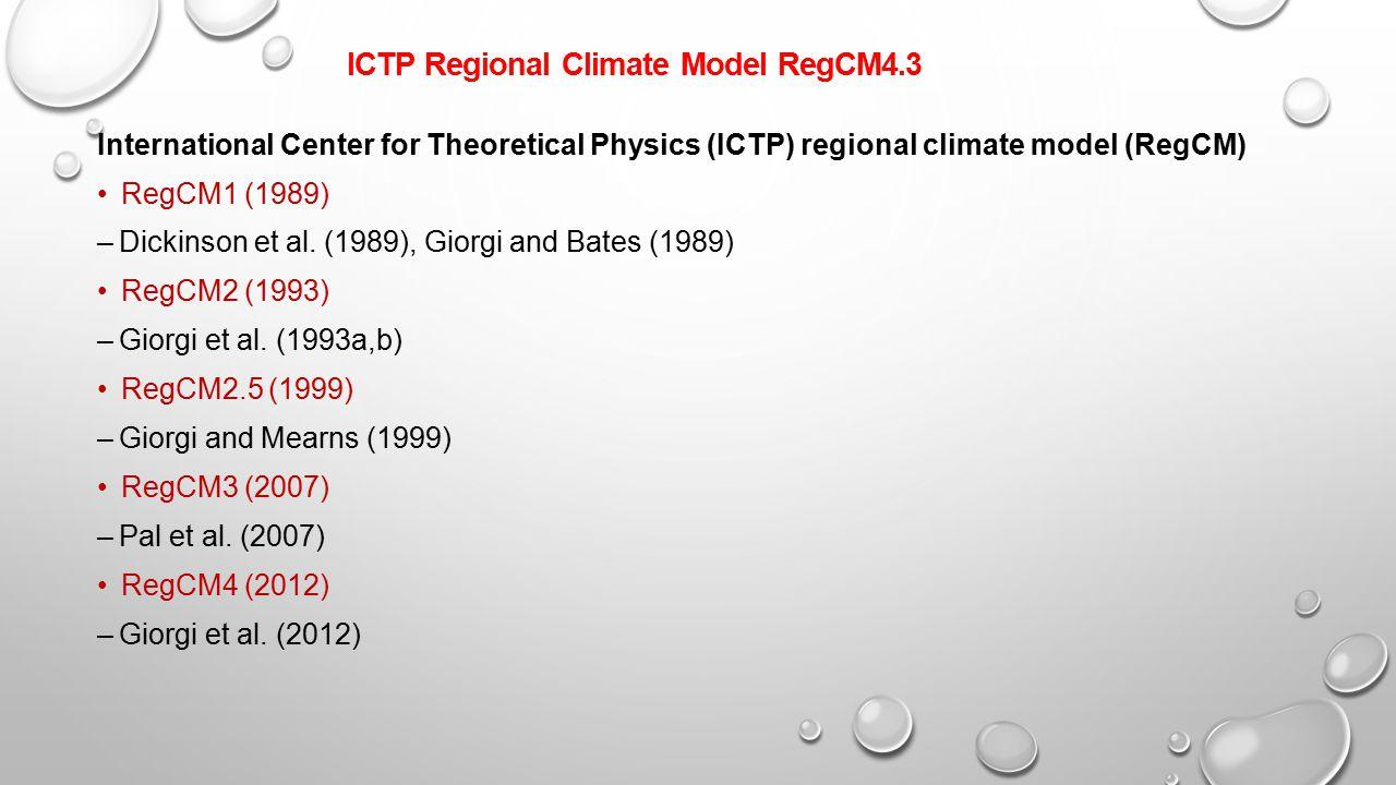 ICTP Regional Climate Model RegCM4.3