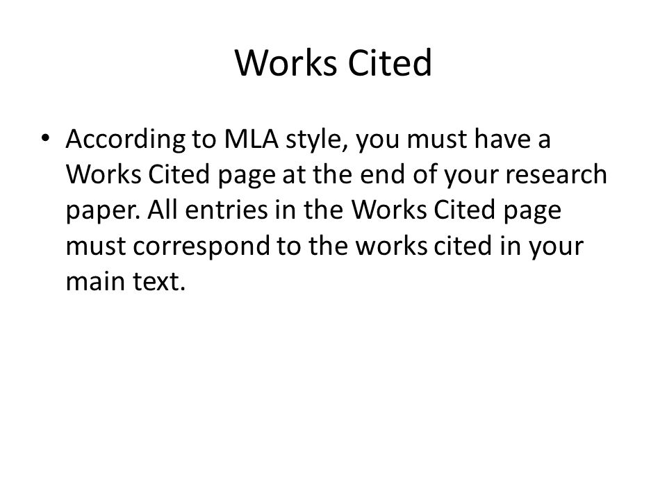 mla format bibliography page examples
