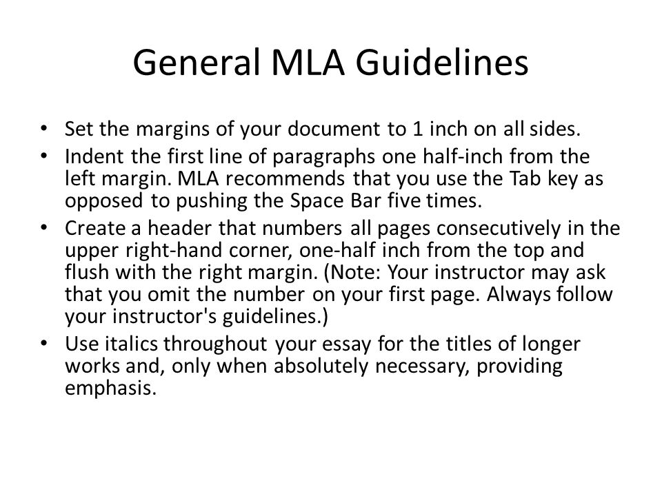 essay margins mla What is an mla-style essay mla (modern language association) margins use plain 12-point times new roman or calibri, no decorative fonts, not even for your title.