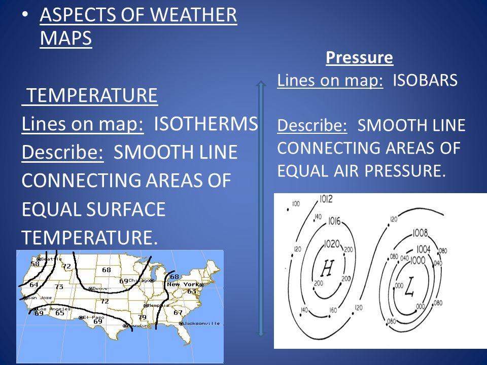 ASPECTS OF WEATHER MAPS