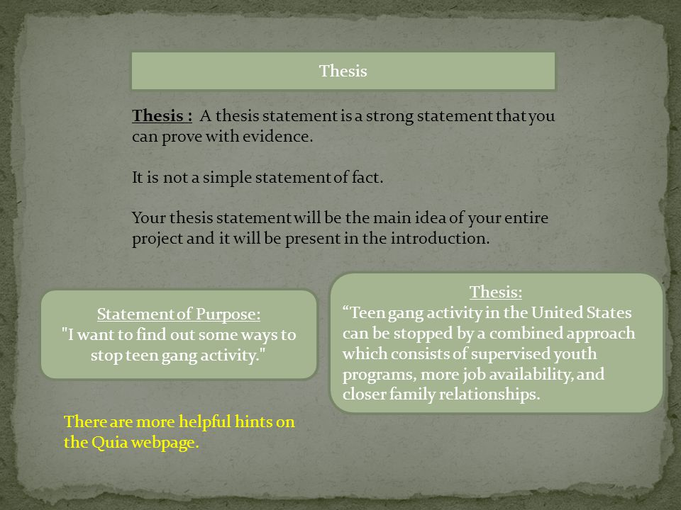 thesis statement on family relationships Identity essay guidelines  your family, and on how you b the final sentence must be the thesis statement section 2: my name, my family.