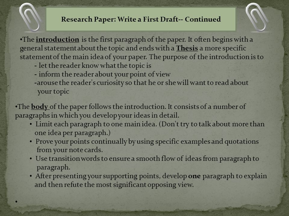 first paragraph research paper The body of the essay will include three paragraphs in a five-paragraph essay in your first paragraph read your essay to paragraph research papers.