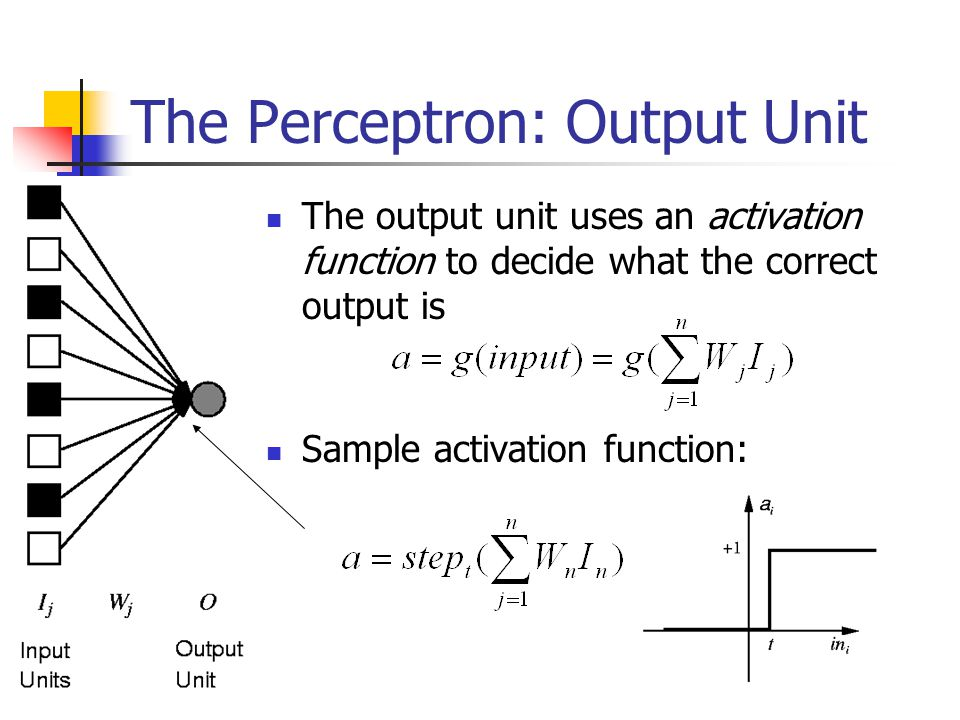 The Perceptron: Output Unit