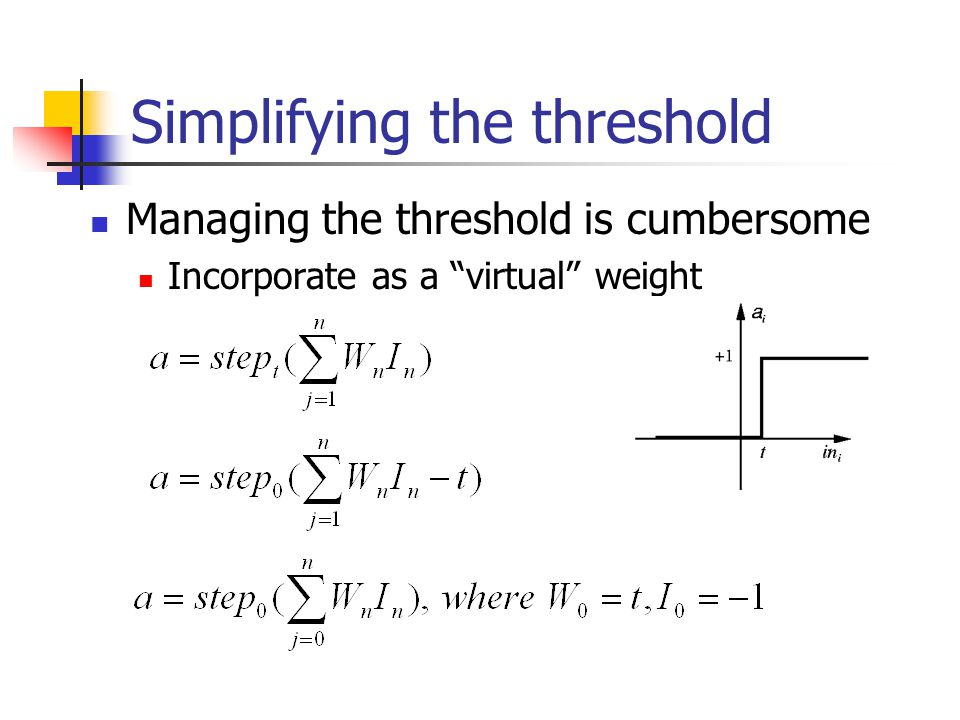 Simplifying the threshold