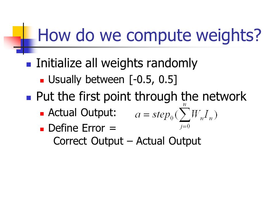 How do we compute weights