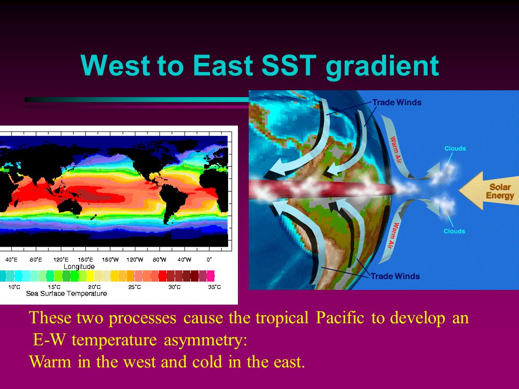 West to East SST gradient