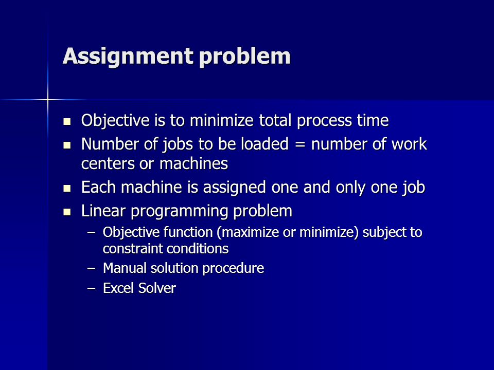 assignment solver models operations research models and methods  production scheduling ppt video online 3 assignment