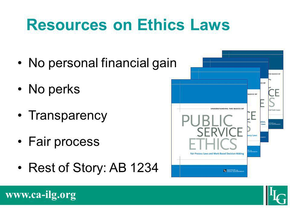 Resources on Ethics Laws