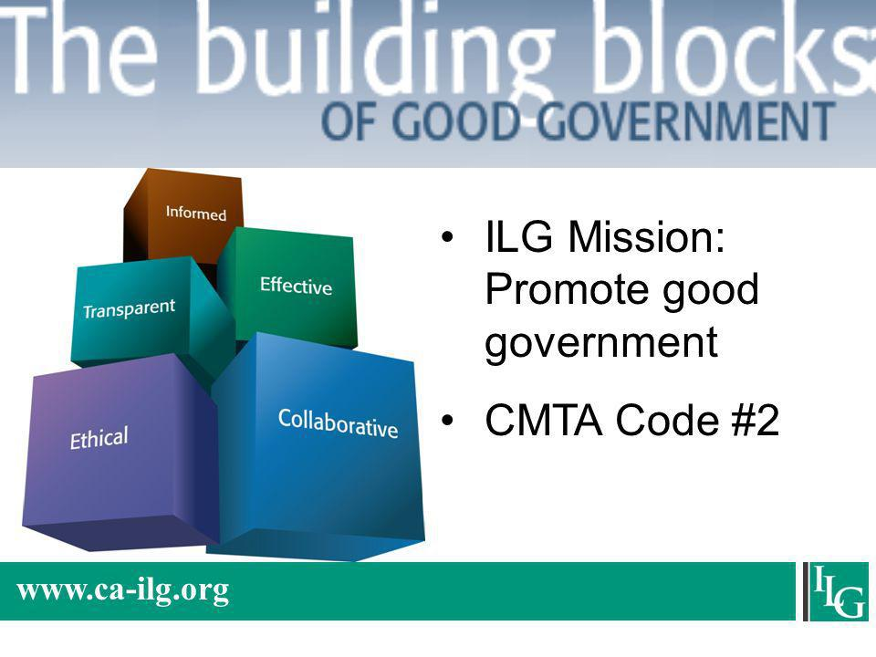 ILG Mission: Promote good government