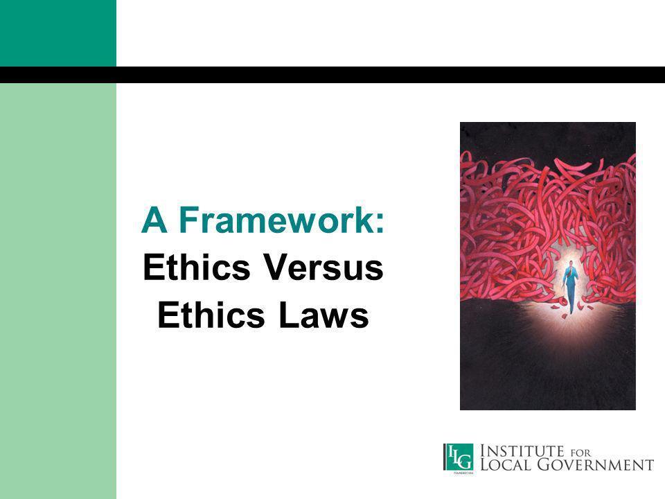 A Framework: Ethics Versus Ethics Laws