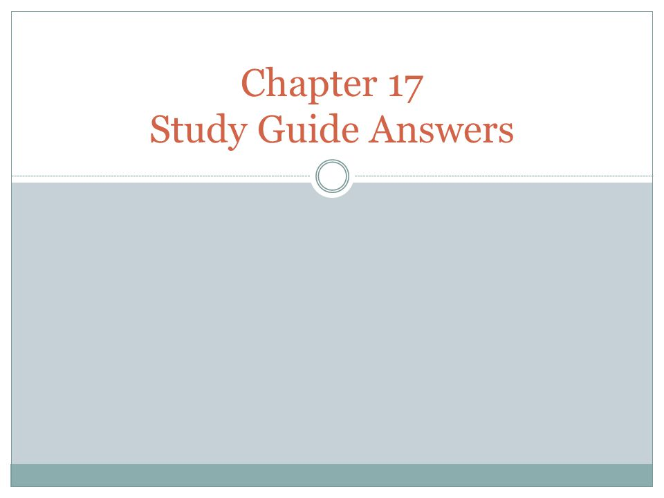 chapter 17 study guide Hole's human anatomy and physiology (shier), 13th edition chapter 17:  digestive system student study outline answers chapter 17 student study  outline.