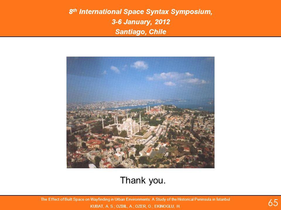 8th International Space Syntax Symposium,