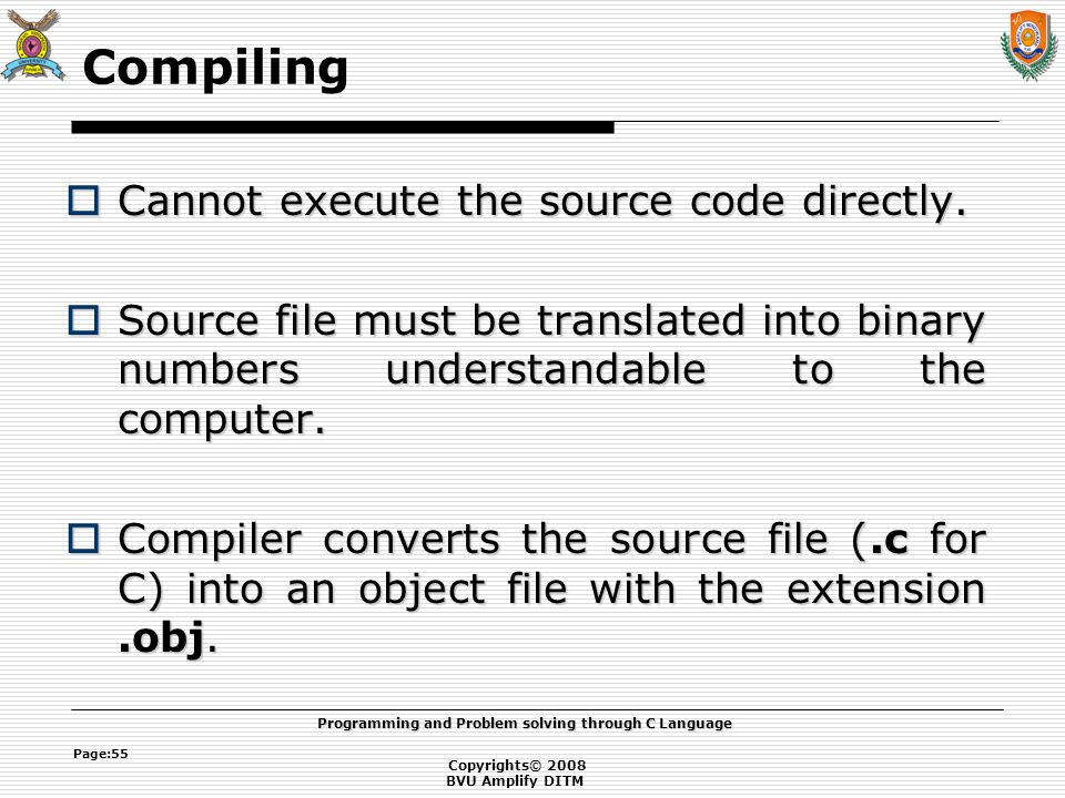 Introduction to programming ppt download Execute c code