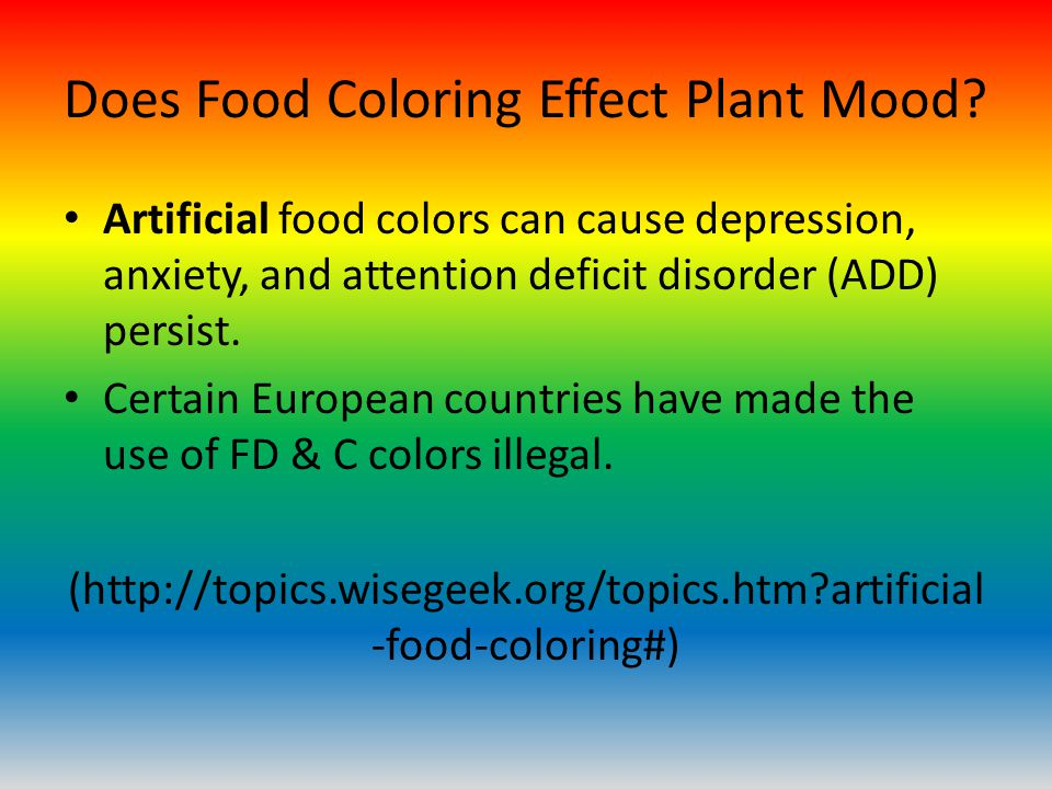 Flowers and Food Coloring - ppt download