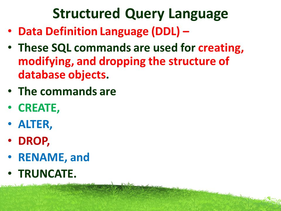 structured query language Join us for a hands-on, interactive introduction to sql, the language for querying  structured data instructor: dr amy hodge, stanford libraries this workshop.