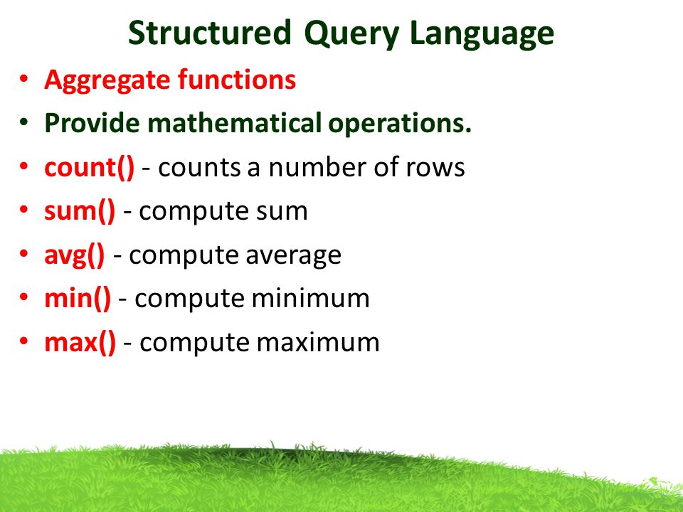 structured query language Create queries using t-sql commands merge data between tables, track data changes, rank data and compare tables, join data from subqueries and table-valued functions, perform recursive.