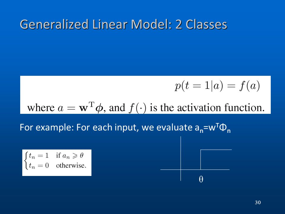 Generalized Linear Model: 2 Classes