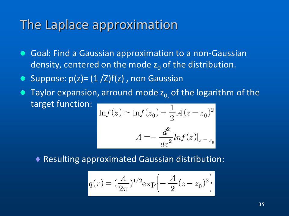 The Laplace approximation