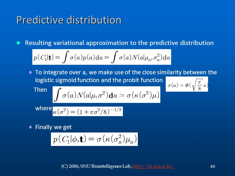 Predictive distribution