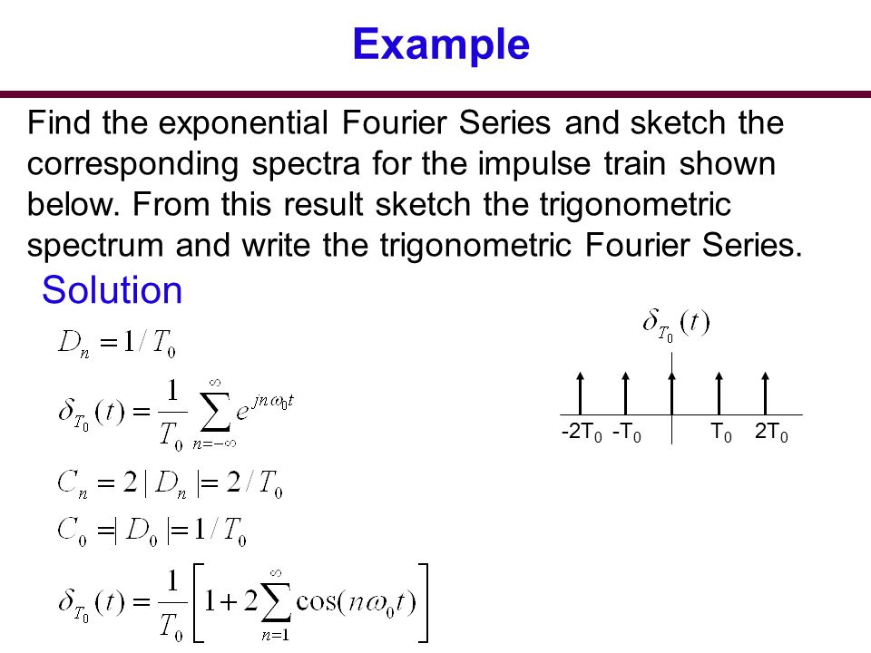 fourier series examples and solutions pdf