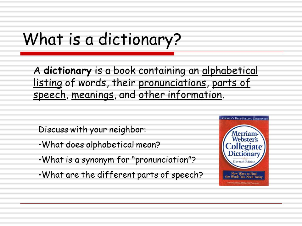 Let s use a dictionary what do we do first ppt download for What does dict mean